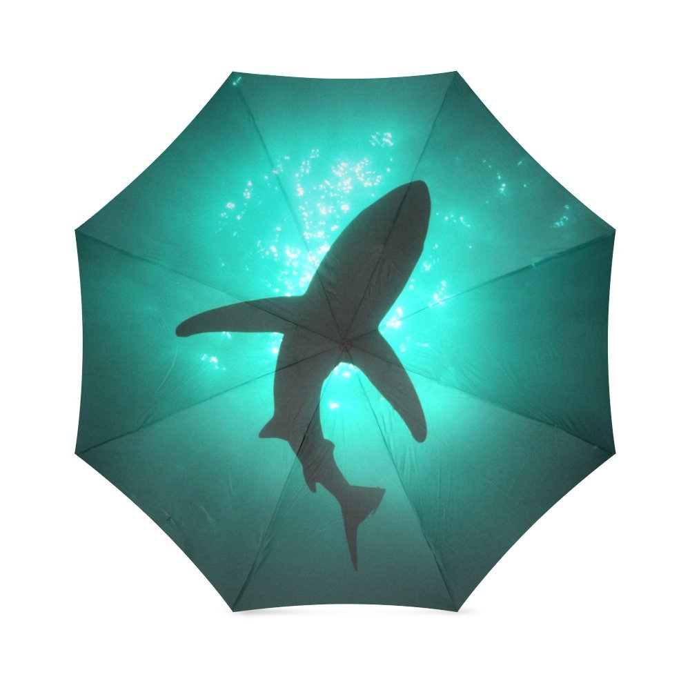 Amazon.com: Beautiful Shark Silhouette, Marine Animal Design Folding Rain Umbrella/Parasol/Sun Umbrella: Garden & Outdoor