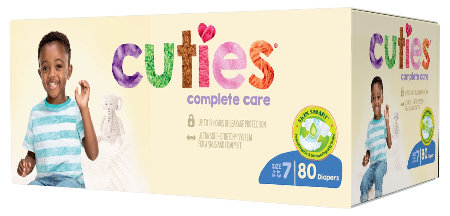 Cuties Complete Care Baby Diapers - Size 7 (80 Count) by Cuties