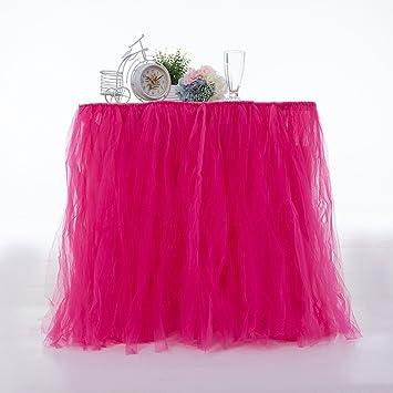 511012205 Tutu Falda de mesa de tul, falda de mantel apta para boda, fiesta ...
