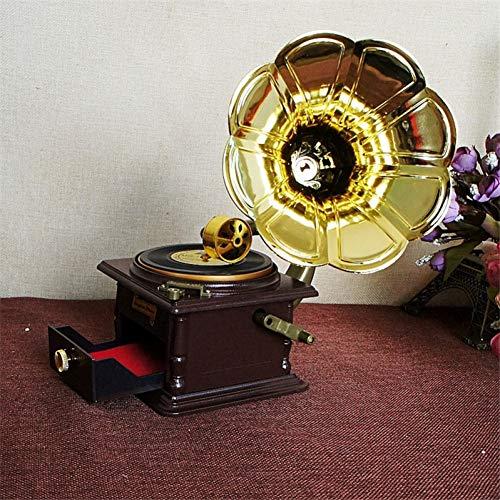 (SHANYYH Music Box Retro Music Box Retro Phonograph Model Craft Mechanism Music Box Carousel Music Souvenir Gift)