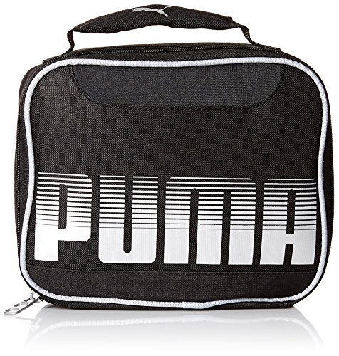 PUMA Boys' Little' Backpacks and Lunch Boxes, Black/Silver, Youth -