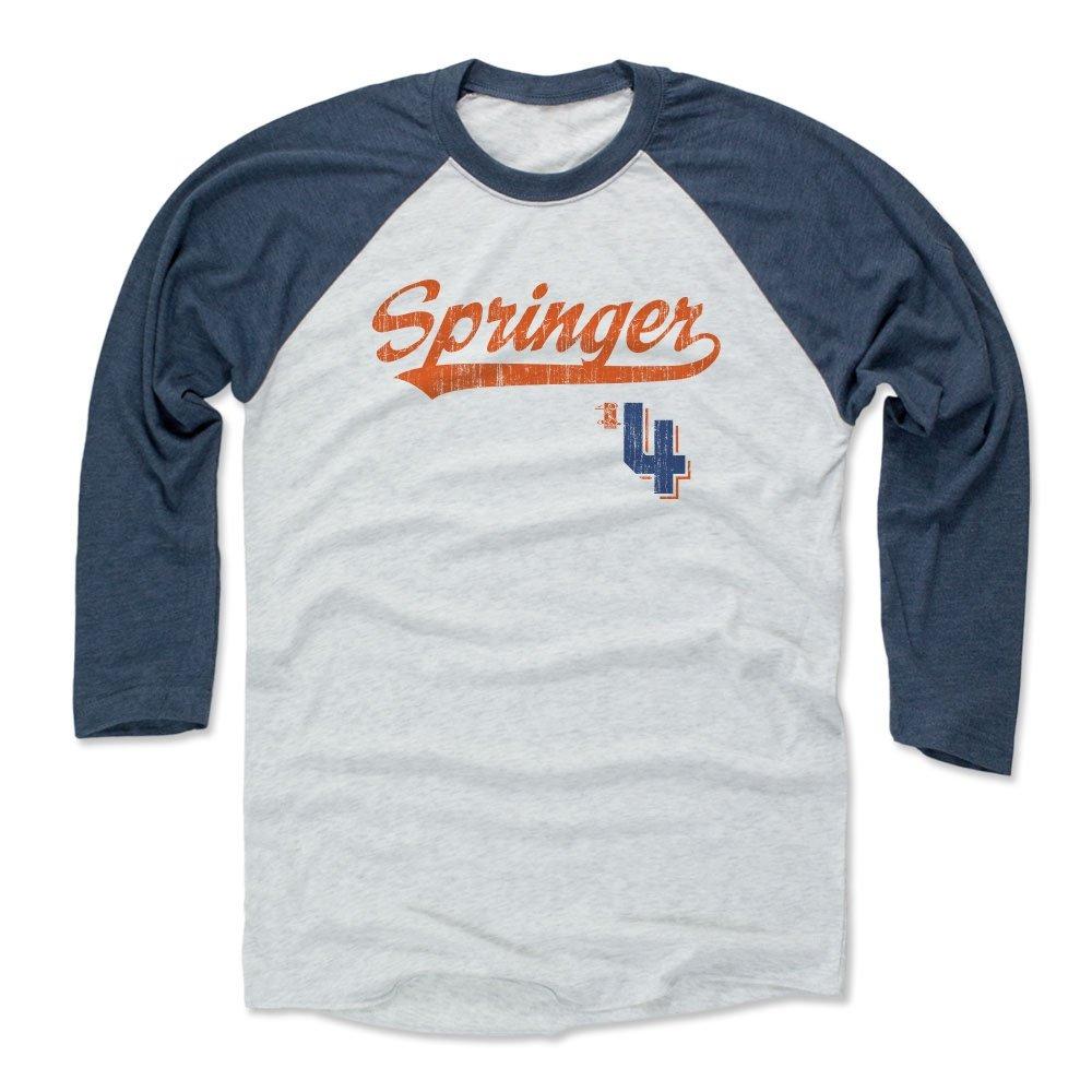premium selection f2300 9fece 500 LEVEL George Springer Baseball Tee Shirt - Houston Baseball Raglan  Shirt - George Springer Script