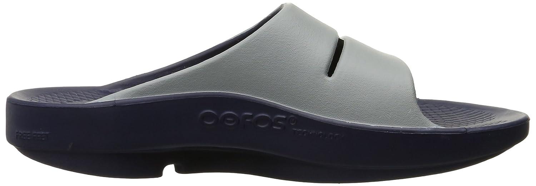 OOFOS Unisex OOahh Sport Slide Sandal B00YW3NG2A 6 B(M) US Women / 4 D(M) US Men|Navy/Steel