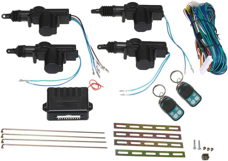 Kkmoon Auto Türschloss Keyless Entry Zentral System Fernbedienung Mit Verriegelungsfeder 4 Türen Universal Auto