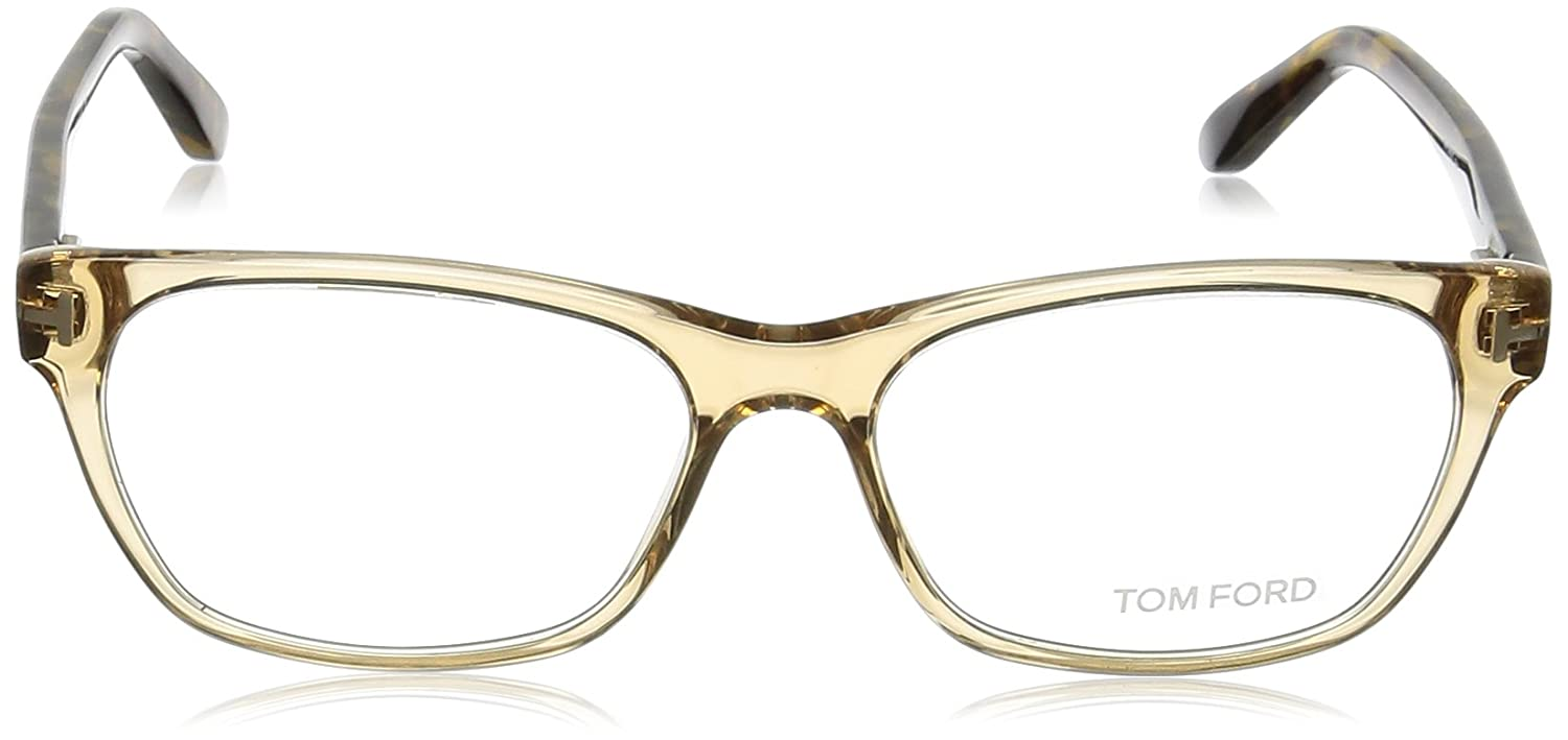 103b1df4c873 TOM FORD Women s TF 5405 045 Clear Beige Clear Butterfly Eyeglasses 54mm at  Amazon Men s Clothing store