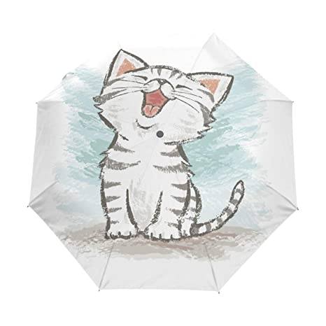 d87da44342f5 Amazon.com: HLive Travel Umbrella American Shorthair Cat Auto Open ...