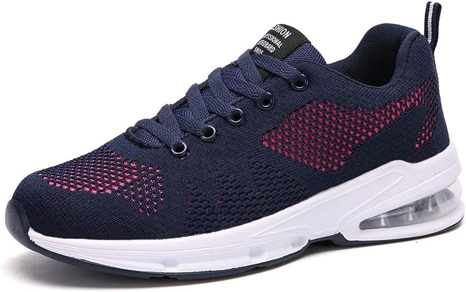 Zapatos Correr Mujer Running Sneakers Air Amortiguación Zapatillas Deporte Gimnasia Transpirables Ligero Aire Libre Negro Rojo Azul 35-42: Amazon.es: Zapatos y complementos