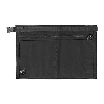 1 x BUNSE 4 Pocket Black Denim Market Trader Money Bag Cash Belt Pocket Pouch