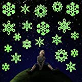Best Sticker Decals For Holiday Christmas - DECORA 3D Glow in the Dark Snowflakes Decals Review