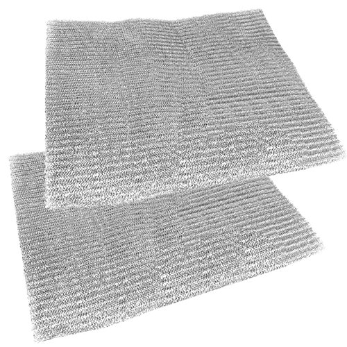 Spares2go Universal Aluminium Cut To Size Mesh Filter For all Makes Of Cooker Hood/ Extractor Fan Vent (Pack Of 2 Filters, 57 x 47 cm) (Aeg Cooker Hoods)