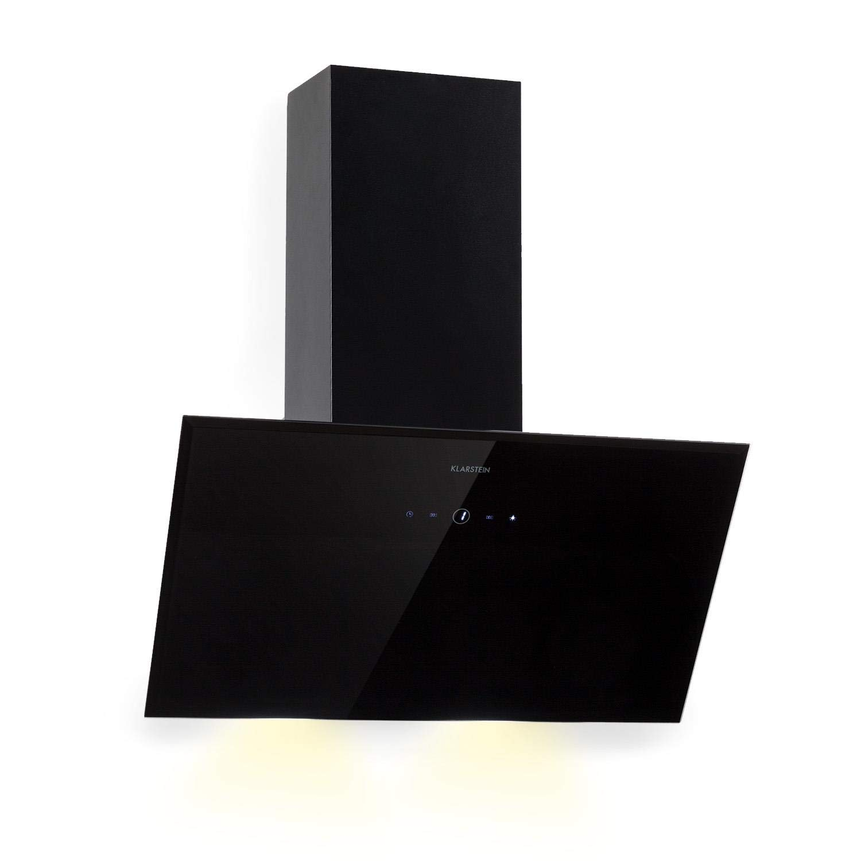 Klarstein Laurel 60 • Campana extractora • Extractor de humos de pared • Extractor de humos • 60 cm • Absorción de 350 m³/h • LED • 55 dB • Filtro de grasa de aluminio para la extracción • Negro