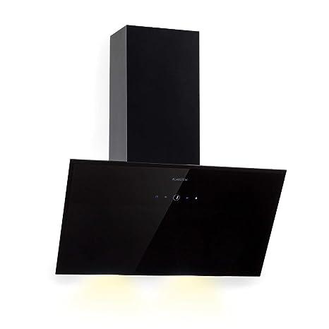 Klarstein Laurel 60 • Cappa Aspirante • Cappa da Cucina • Cappa a Parete •  60 cm • Aria di Scarico: 350 m³/h • LED Touch • 55 dB • Filtro Antigrasso  ...