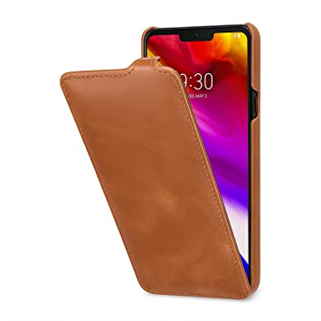 StilGut UltraSlim - Funda de Piel para LG G7 ThinQ. Carcasa ...