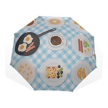 6dc4383e6a69 Amazon.com: Easy Folding Umbrella Appetizing Delicious Breakfast ...