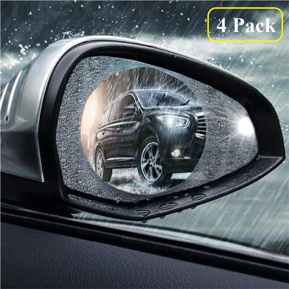 4 PCS Car Rearview Mirror Protective Film, Digic HD Anti-Fog Nano Coating Rainproof Film, Anti-Glare, Anti-Scratch, Waterproof Protector Film for Rear View Mirror, 100mm * 145mm 100mm*145mm
