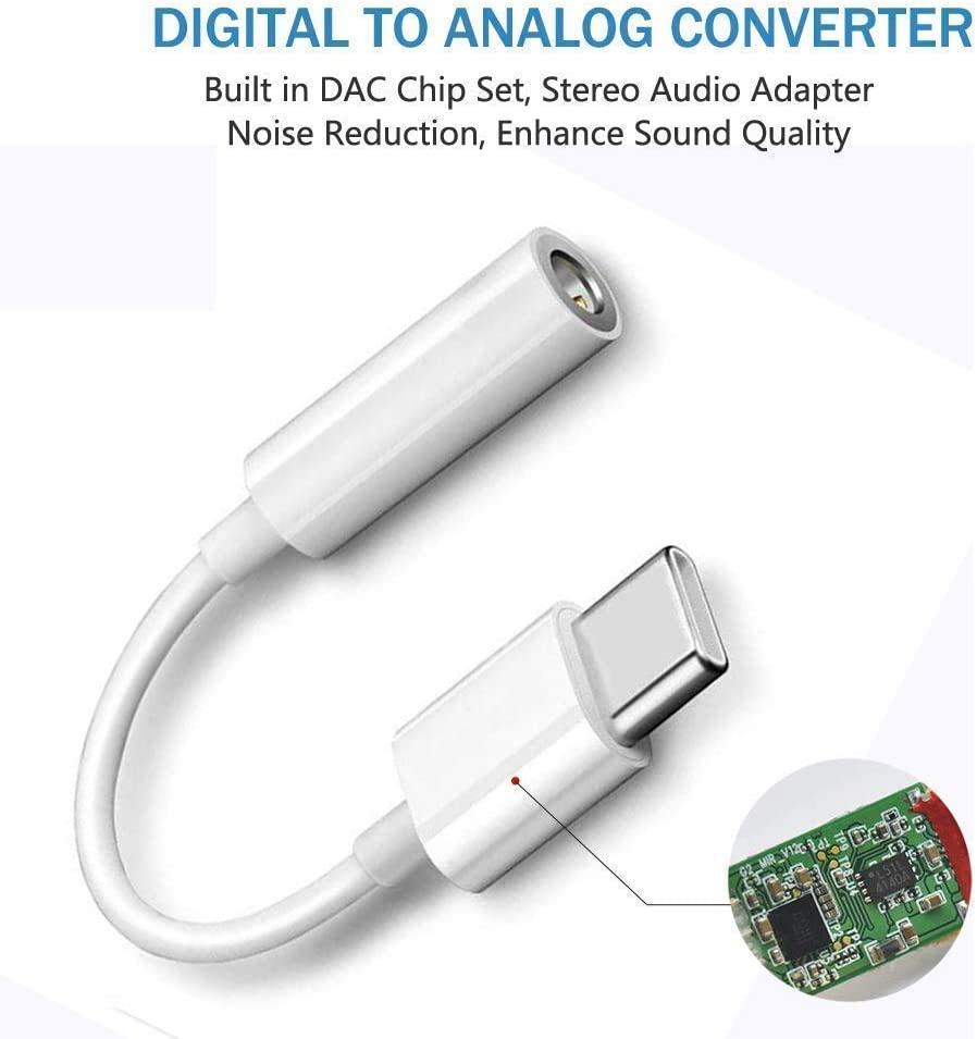 Calling/&Volume Control Compatible for Google Pixel 2//2xl Essential Phone Mote Z//Z 2 HTC U11 USB C to 3.5mm Adapter,USB Type C to 3.5mm Audio Headphone Jack Cable DAC Chip