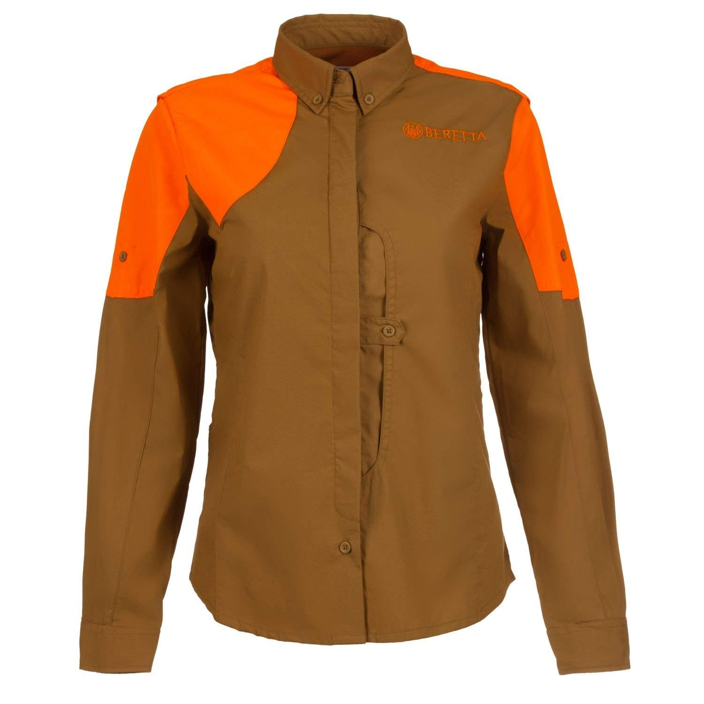 Beretta Womens Upland Front Load Shirt Light Brown/Orange HV; L