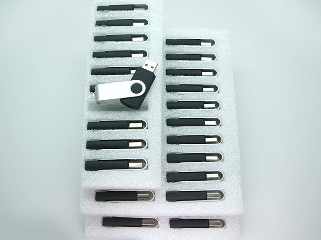 50 4GB Flash Drive - Bulk Pack - USB 2.0 Swivel Design in Black