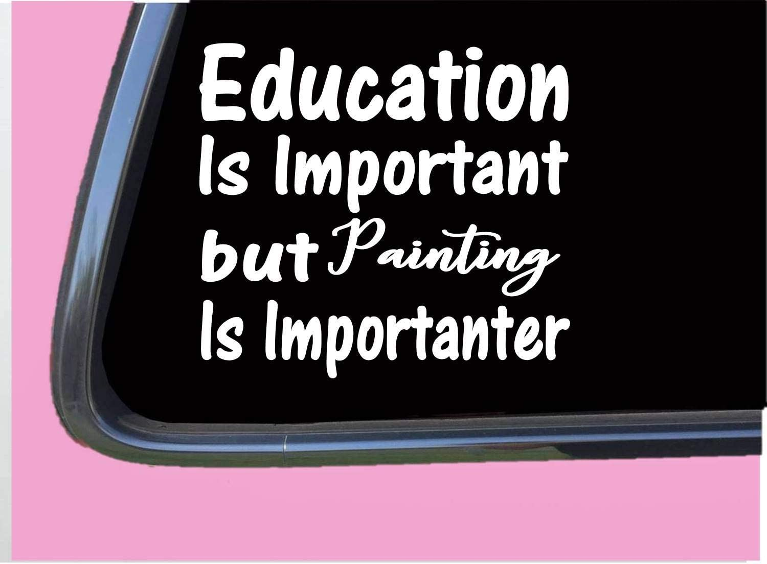 "Painting Important TP074 Vinyl 6"" Decal Sticker Painter Brush Paint Vinyl Decal for Cars, Trucks, Laptops"