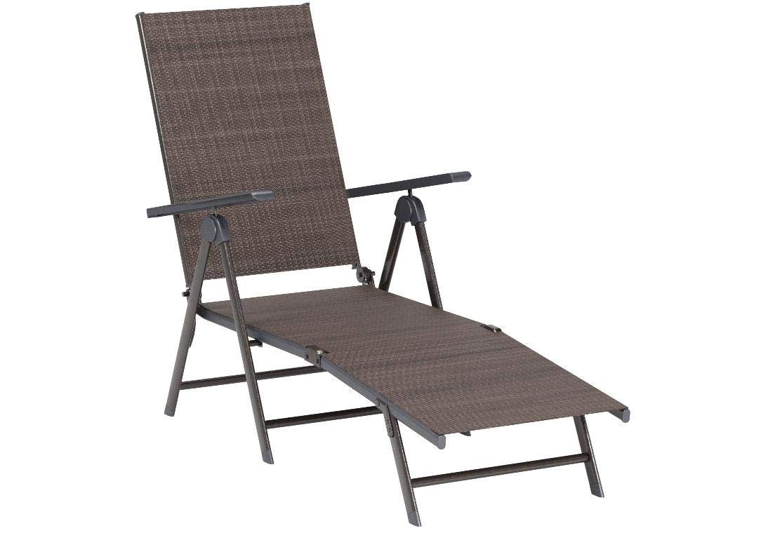 GHP Outdoor Patio Furniture Textilene Adjustable Pool Chaise Lounge Chair by Globe Warehouse