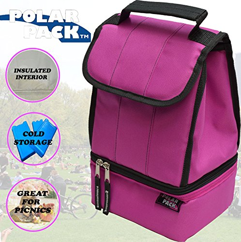 cda6a39c47de POLAR PACK Soft Cooler Insulated Tote Bag Insulated Cooler Bag Collapsible  Lunch Bag Zipper Pocket Handle Carry Insulated Picnic Bag Outdoor Indoor ...