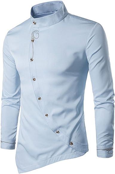 FAMILIZO Camisas Hombre Manga Larga Slim Fit Camisas Hombre Lino Camisas Hombre Originales Baratas Negocio Tops Blusa Hombre Blanca Otoño Business ...
