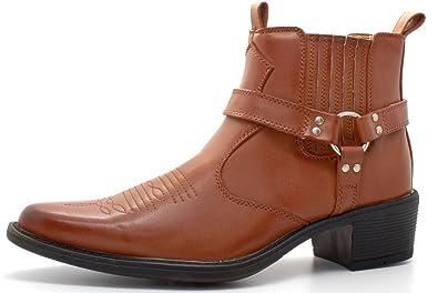 a2f01161e9d Mens Gents Cuban Heel Pull On Western Boots