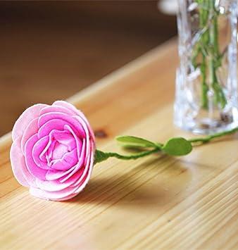 Raylinedo Nahen Craft Project Kit Vlies Rose Blume Handgefertigt