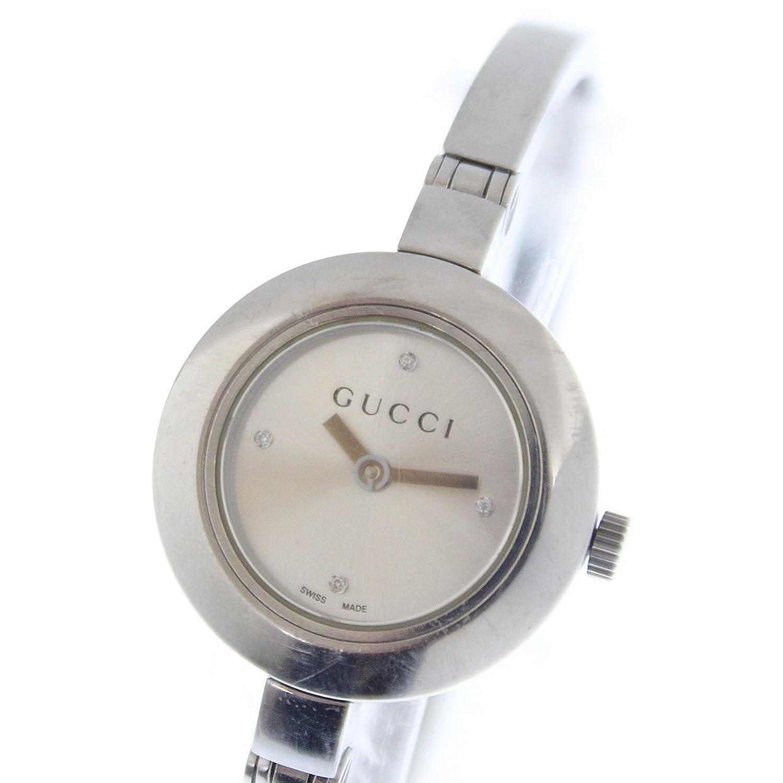 (グッチ) GUCCI バングルウォッチ 105 4Pダイヤレディース クォーツ腕時計 シルバー文字盤 女性用 B077T8BRPF