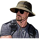 SIYWINA Sun Hat Men Protection Summer Bucket Wide Brim