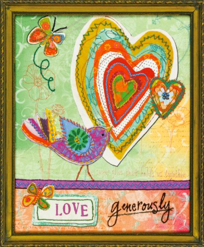 Love Birds Applique (Dimensions Crafts Love Generously Embroidery and Applique Kit)