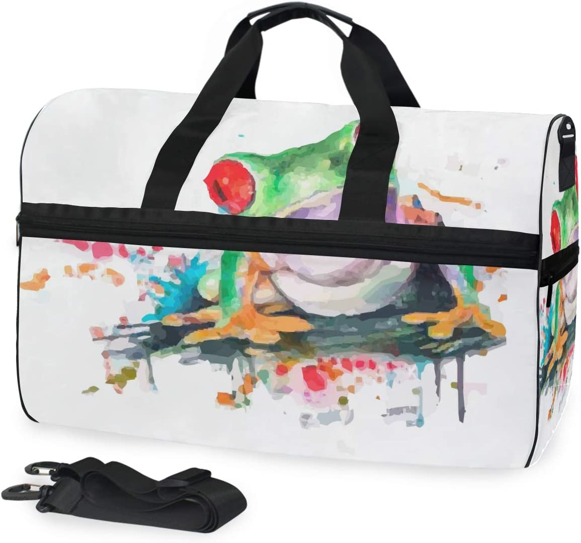 FAJRO Duffle Bag for Women Men Fog Art Painting Travel Duffel Bag Large Size Water-proof Tear Resistant