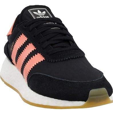 0f9b9dcbd2 adidas Iniki Runner Womens in Black Semi Flash Orange