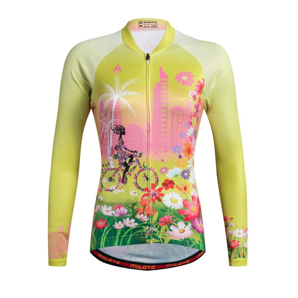 Uriah Women 's Cycling Jersey熱フリース長袖Reflective B074RCLD58 Chest 38.5''=Tag L|Happy Angel Happy Angel Chest 38.5''=Tag L