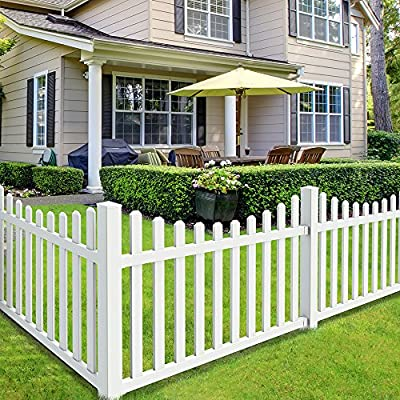 White YardSmart/® 73024967 4-in-1 Vinyl Fence Kit