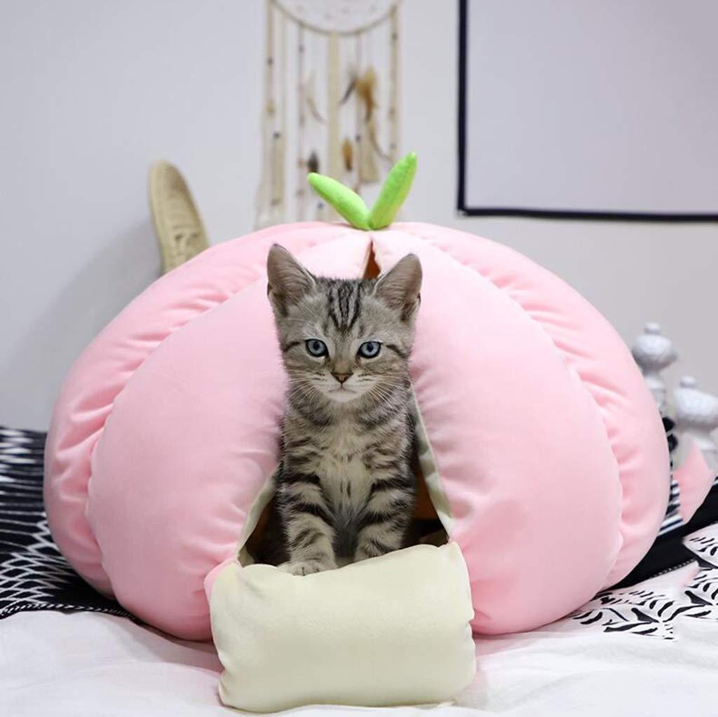JUEJIDP Lettiera per Gatti Nido d'oro Rimovibile per Gatti con con con Nido d'Ape Cat (colore   Peach Colore) ffb3b4