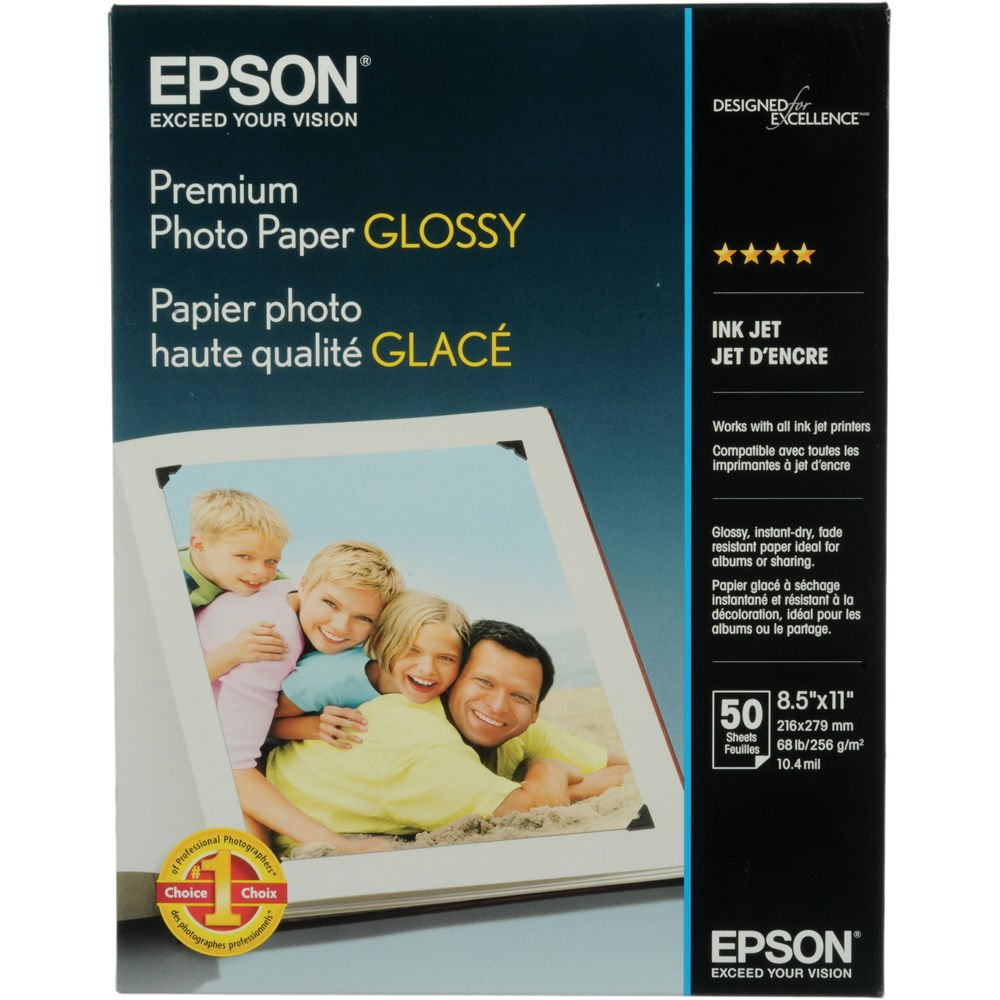 Epson S042092 Premium Photo Paper, 68 lbs, High-Gloss, 17 x 22 (Pack of 25 Sheets)