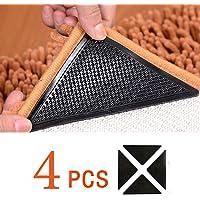 Antirutschmatte für Teppich, 4 Stück Teppichgreifer Waschbar Teppich Ecke Rutschfest Teppichstopper Teppichunterlage Teppich Greifer Starke Klebrigkeit Wiederverwendbar Rutschschutz für Teppich