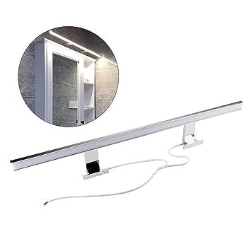 Lampe Salle de Bain Miroir LED 13W, Chrome, 80cm, Blanc Neutre (4200K),  850lm, 80x2835SMDs, Applique Murale pour Salle de Bain Applique Murale CRI>  80 ...