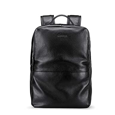 Men Leather Laptop Backpacks Usb Charging School Backpack Travel Bags c014d23e54360