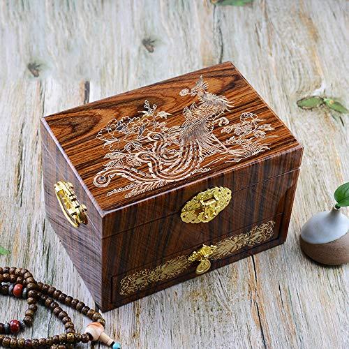 (HAIHF Wooden Jewellery Box, Hand-Painted Push Light Lacquer Jewelry Box Lacquer Jewelry Storage Organizer, Storage Display Case Jewellery Organizer Chinese Oriental Furniture & Gifts)