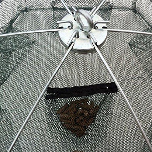 New Minnow Folded Fishing Trap Baits Cast Mesh Floding Fish Crab Nets