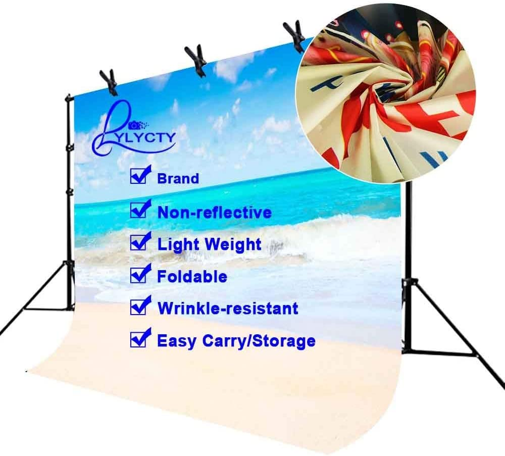SZZWY 10x7ft Sea View Backdrop Waves Beach and Sky Minimalistic Photography Studio Background Props LYGE695