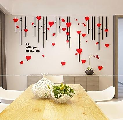 3D tridimensionale di acrilico adesivi parete soggiorno camera da ...
