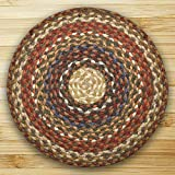 Earth Rugs Round Area Rug, 5.75', Honey/Vanilla/Ginger