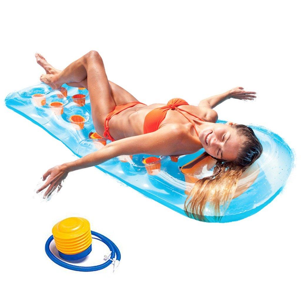 CHENGYI Schwimmendes Bett, Art- und Weisepool-sich hin- und herbewegendes Reihen-aufblasbares treibendes sich hin- und herbewegendes Bett verdicken Luftpolster-Recliners 188 * 71cm ( Farbe : B )