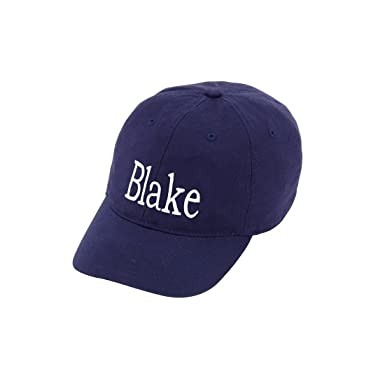 020ee990c50 Image Unavailable. Image not available for. Color  Monogrammed Personalized  Children s Navy Blue Baseball Hat