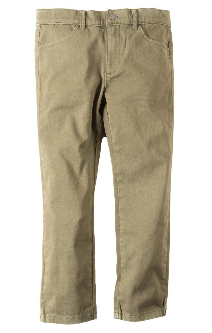Appaman Kids Baby Boy's Skinny Twill Pants (Toddler/Little Kids/Big Kids) Stone Olive 6