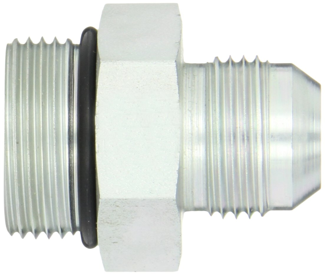 Eaton Aeroquip 202702-16-12S Steel Flared Tube Fitting 3//4 Male JIC x 1 O-Ring Boss Male 3//4 Male JIC x 1 O-Ring Boss Male Adapter