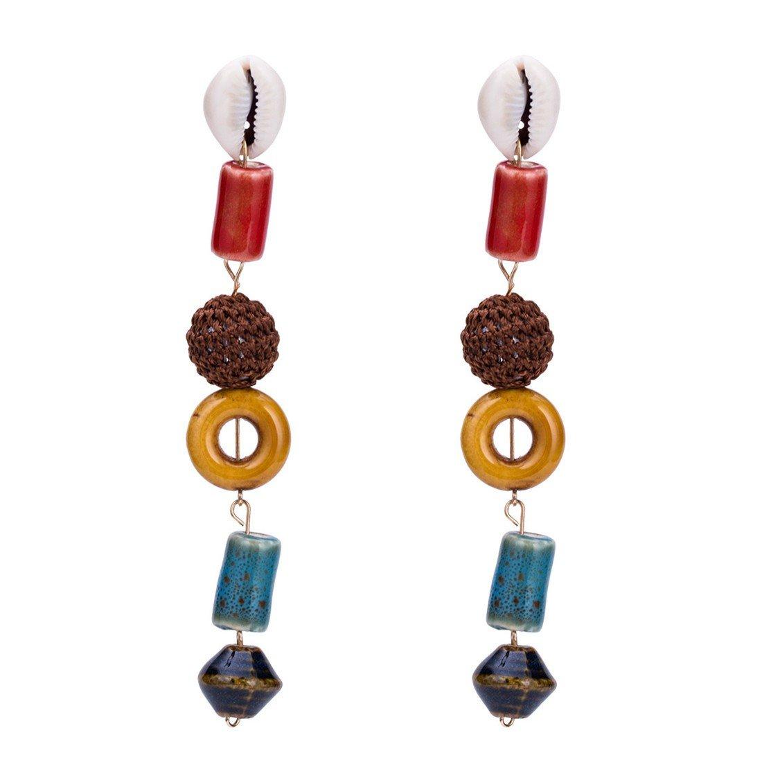 ball earrings clip on earrings ear cuffs dangle earrings earring jackets hoop earrings stud earrings Exaggerated earrings long knitted national wind studs. European and American earrings